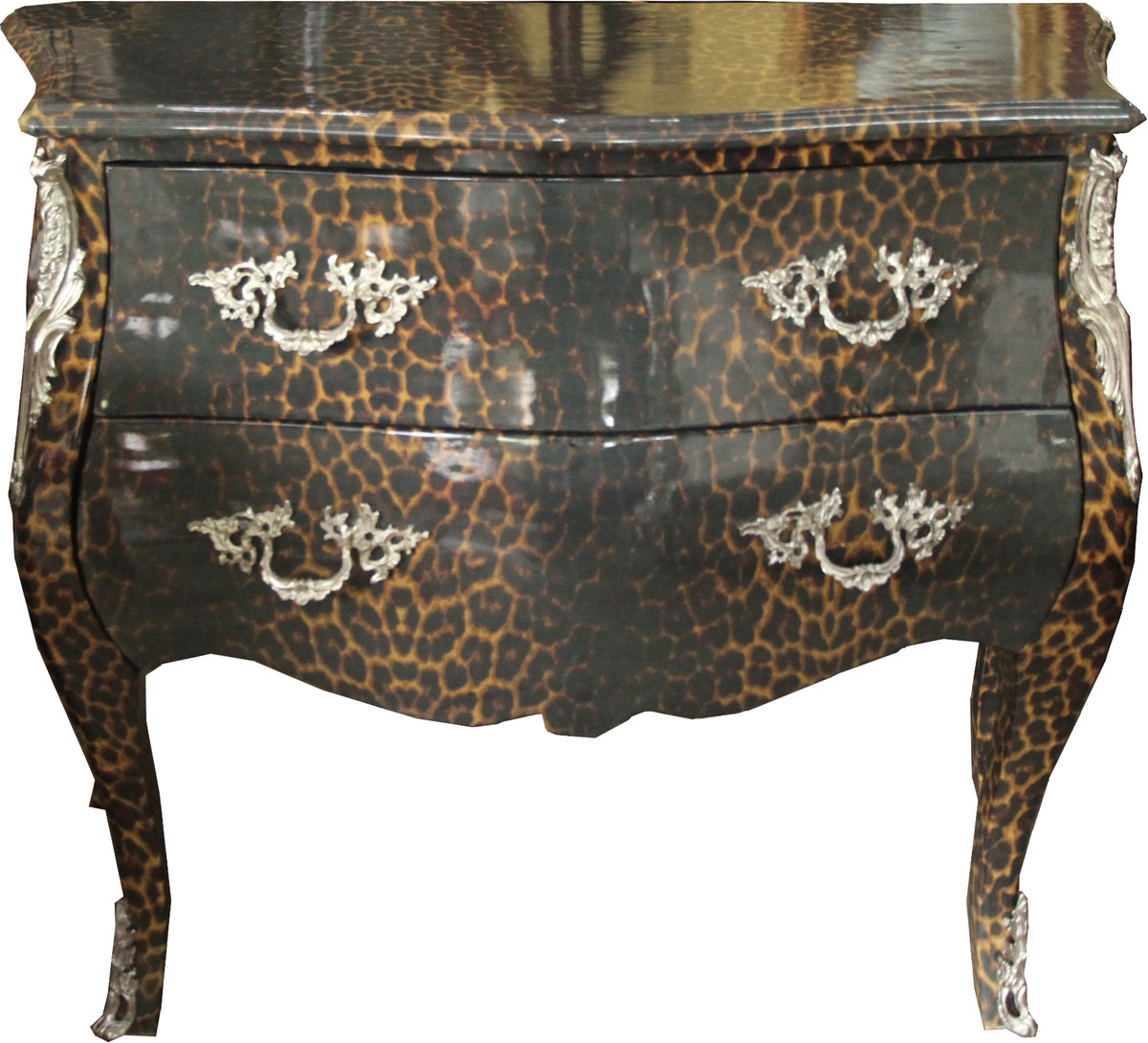 casa padrino baroque chest of drawers leopard gray 105 cm cabinet furniture commodes baroque. Black Bedroom Furniture Sets. Home Design Ideas