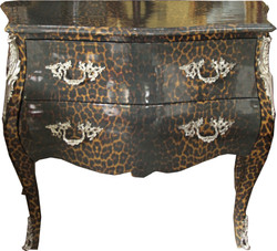 Casa Padrino baroque chest of drawers Leopard gray 105 cm - cabinet furniture