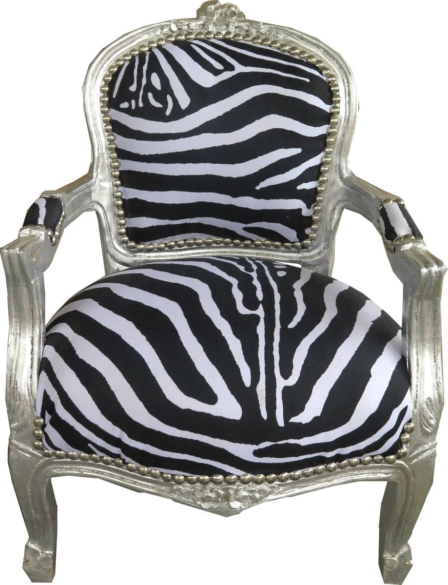 casa padrino barock kinder stuhl zebra silber kinderm bel casa padrino farbwelten zebra. Black Bedroom Furniture Sets. Home Design Ideas