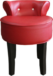 Casa Padrino Design stool Boston Red / Black with Bling Bling Stones- Baroque dressing table chair