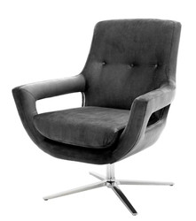 Casa Padrino luxury swivel chair grey - designer hotel furniture