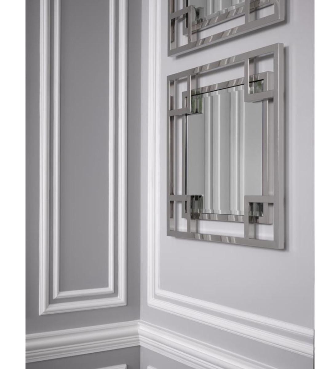 casa padrino designer wandspiegel silber 90 x h 90 cm luxus spiegel spiegel luxus spiegel. Black Bedroom Furniture Sets. Home Design Ideas