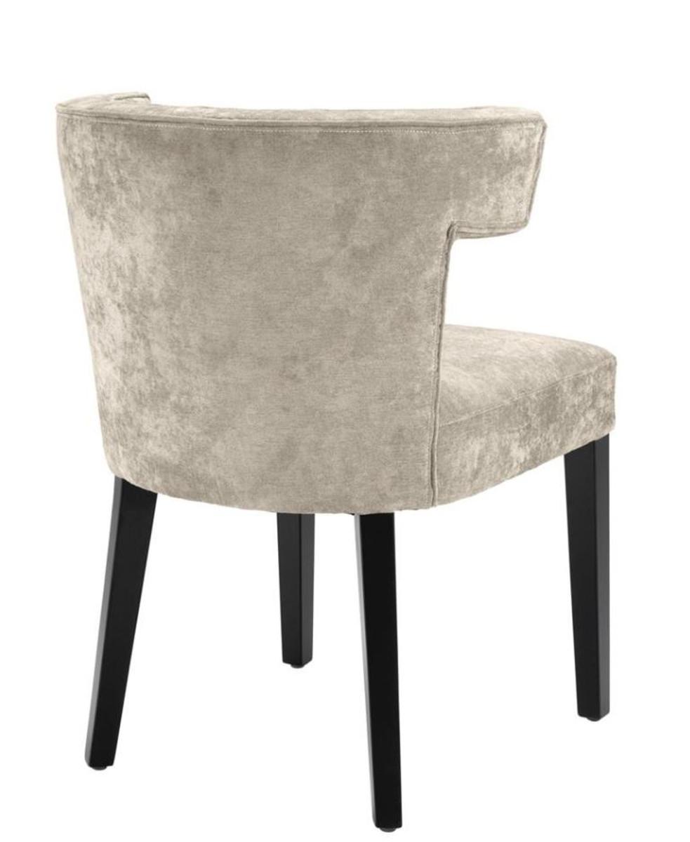 casa padrino luxus esszimmerstuhl grau schwarz designer. Black Bedroom Furniture Sets. Home Design Ideas