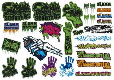 Slamm Skateboard / Scooter Sticker Schutz Helm  Bmx, Inliner, Longboard Helm - Skateboard Schutzausrüstung  – Bild 2