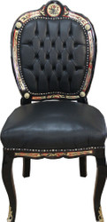 Casa Padrino Luxury baroque chair Boulle Collection with ebony cover - luxury desk chair