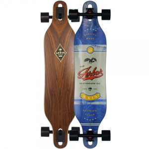 Arbor Longboard complete board Axis 40.0 x 9.0 inch Cruiser Carver Drop Through - Special Edition with Koston ball bearings - Drop Through Longboard