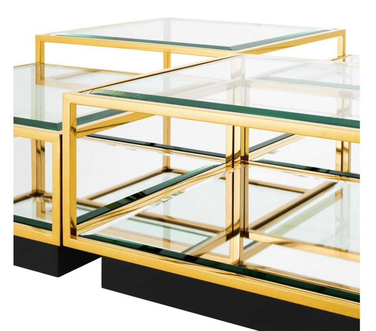 casa padrino art deco luxus couchtisch gold 4er set wohnzimmer salon tisch couchtische luxus. Black Bedroom Furniture Sets. Home Design Ideas