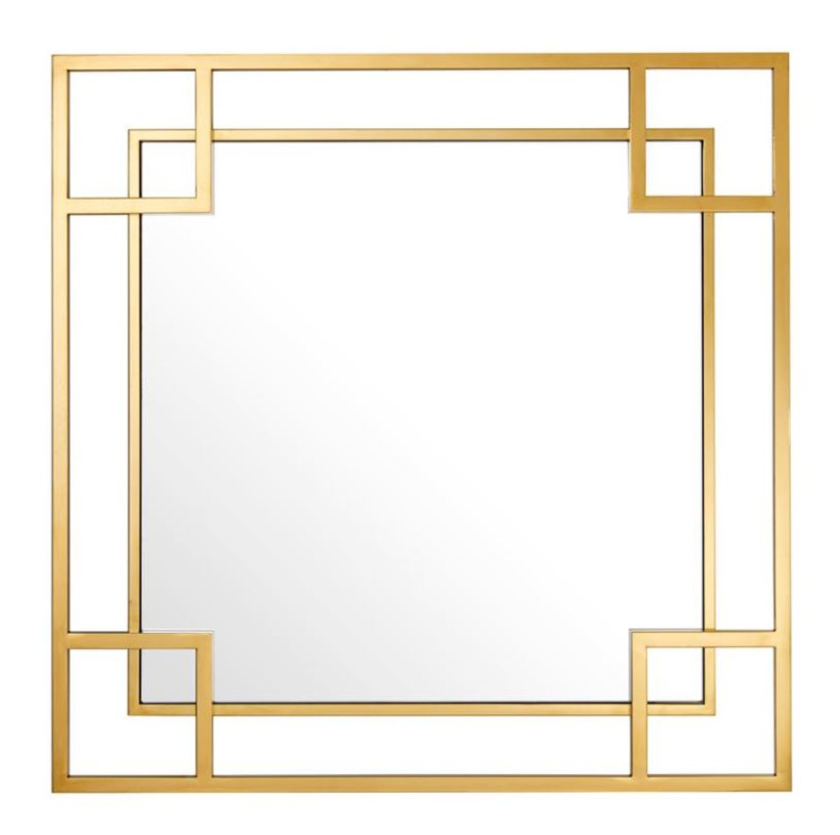 Casa padrino design wall mirror gold 90 x h 90 cm for Miroir 90x90