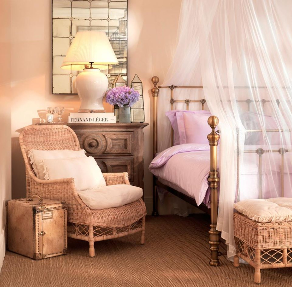Casa Padrino Luxus Bett Antik Messing 187 x 225,5 x H. 152,5 cm - Designer Möbel 6
