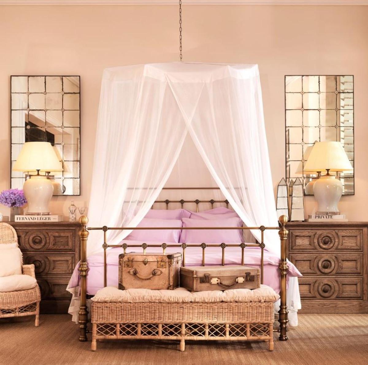 Casa Padrino Luxus Bett Antik Messing 187 x 225,5 x H. 152,5 cm - Designer Möbel 7