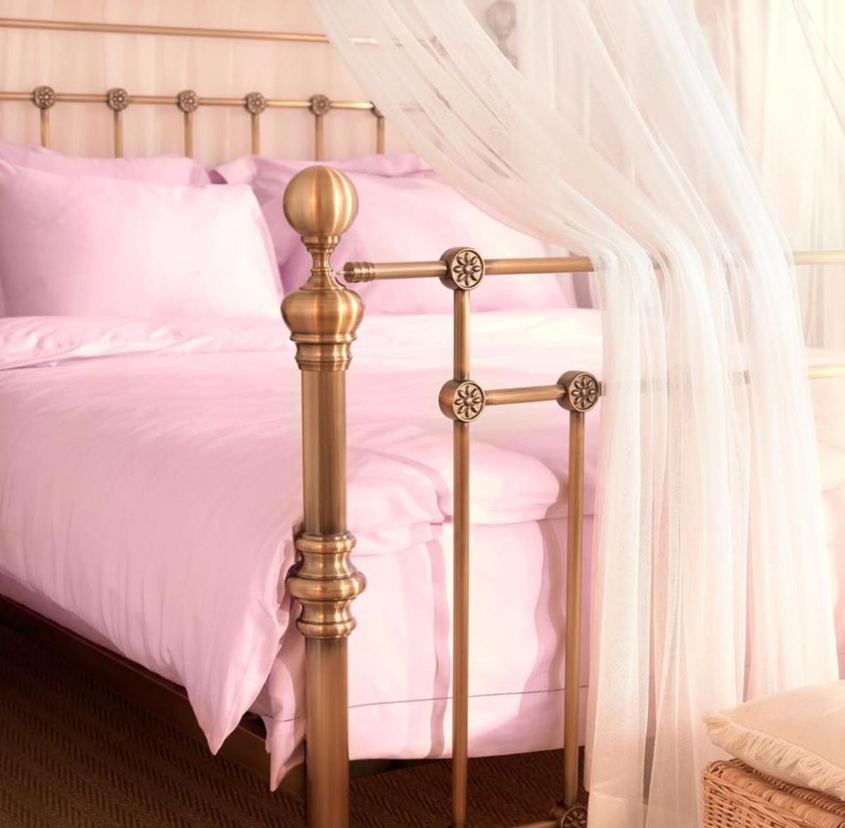 Casa Padrino Luxus Bett Antik Messing 187 x 225,5 x H. 152,5 cm - Designer Möbel 8