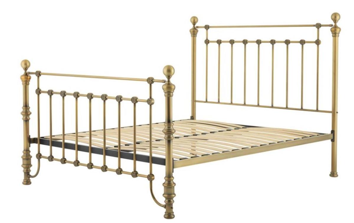 Casa Padrino Luxus Bett Antik Messing 187 x 225,5 x H. 152,5 cm - Designer Möbel 1
