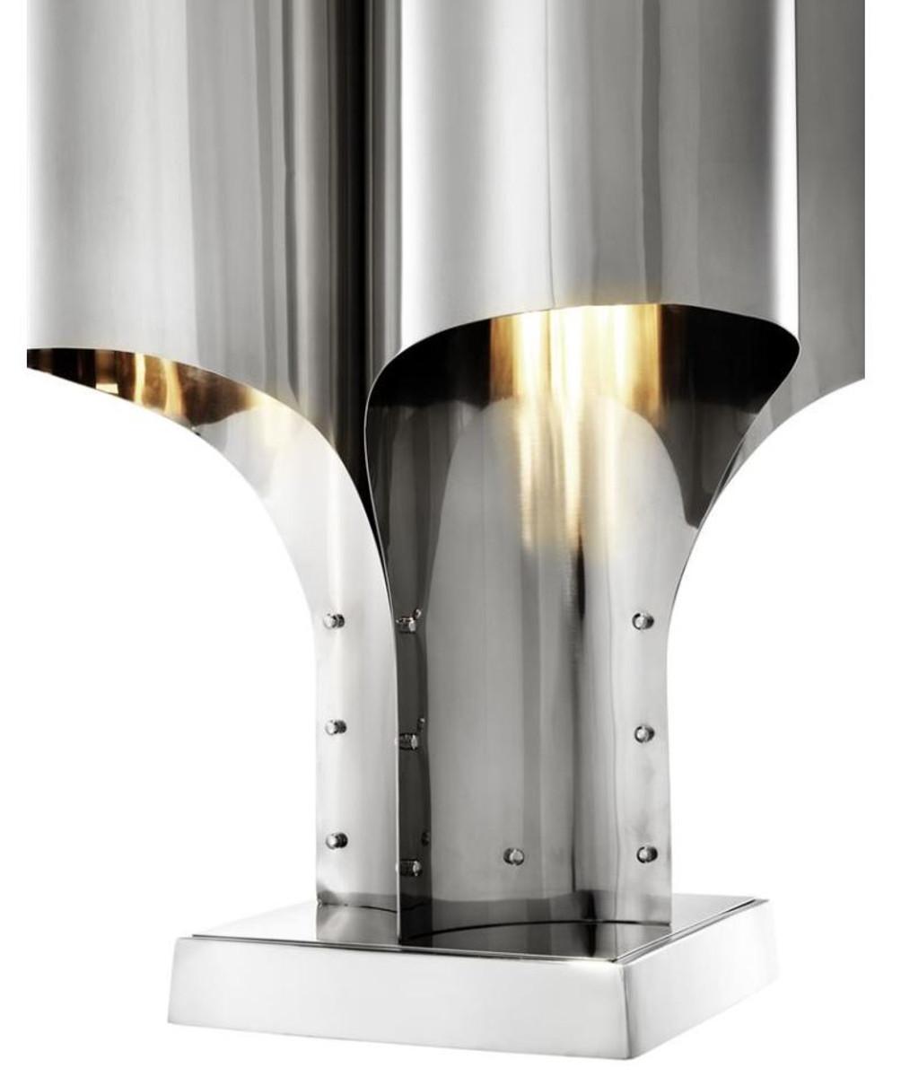 Casa Padrino Tischleuchte Silber 46 x 46 x H. 82,5 cm - Luxus Tischlampe 2