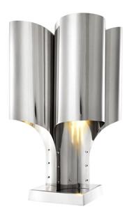 Casa Padrino Tischleuchte Silber 46 x 46 x H. 82,5 cm - Luxus Tischlampe