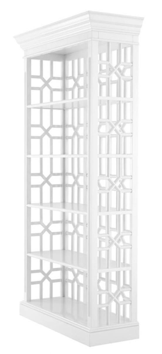 Casa Padrino Designer Mahagoni Regalschrank Piano Weiß - Luxus Qualität 2