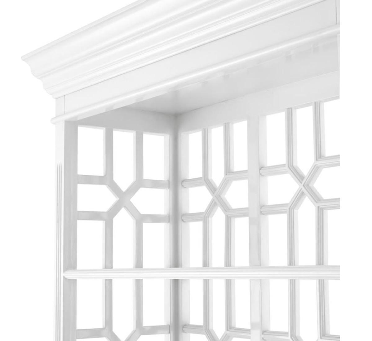 Casa Padrino Designer Mahagoni Regalschrank Piano Weiß - Luxus Qualität 3