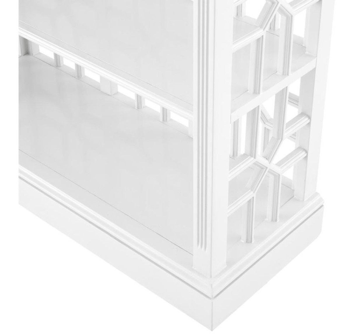Casa Padrino Designer Mahagoni Regalschrank Piano Weiß - Luxus Qualität 4