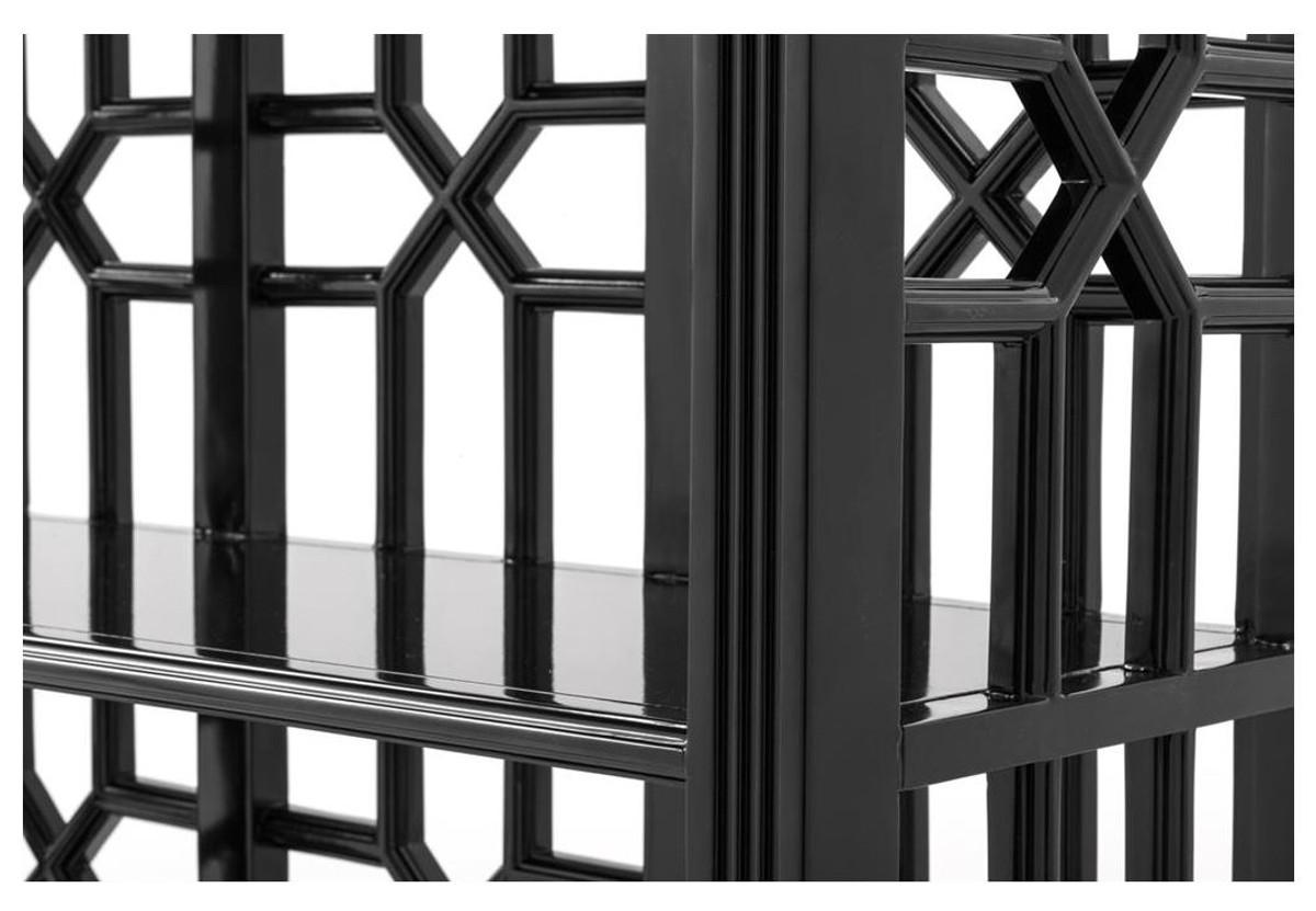 Casa Padrino Designer Mahagoni Regalschrank Piano Schwarz - Luxus Qualität 2