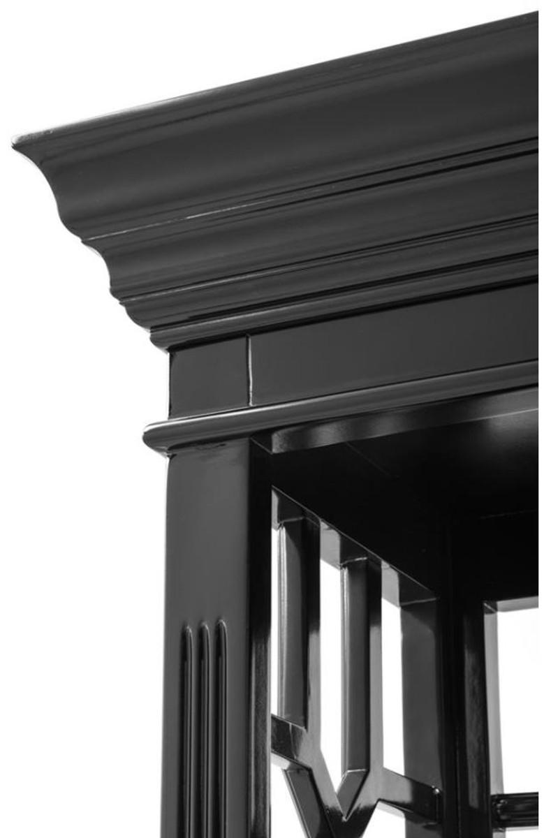 Casa Padrino Designer Mahagoni Regalschrank Piano Schwarz - Luxus Qualität 3