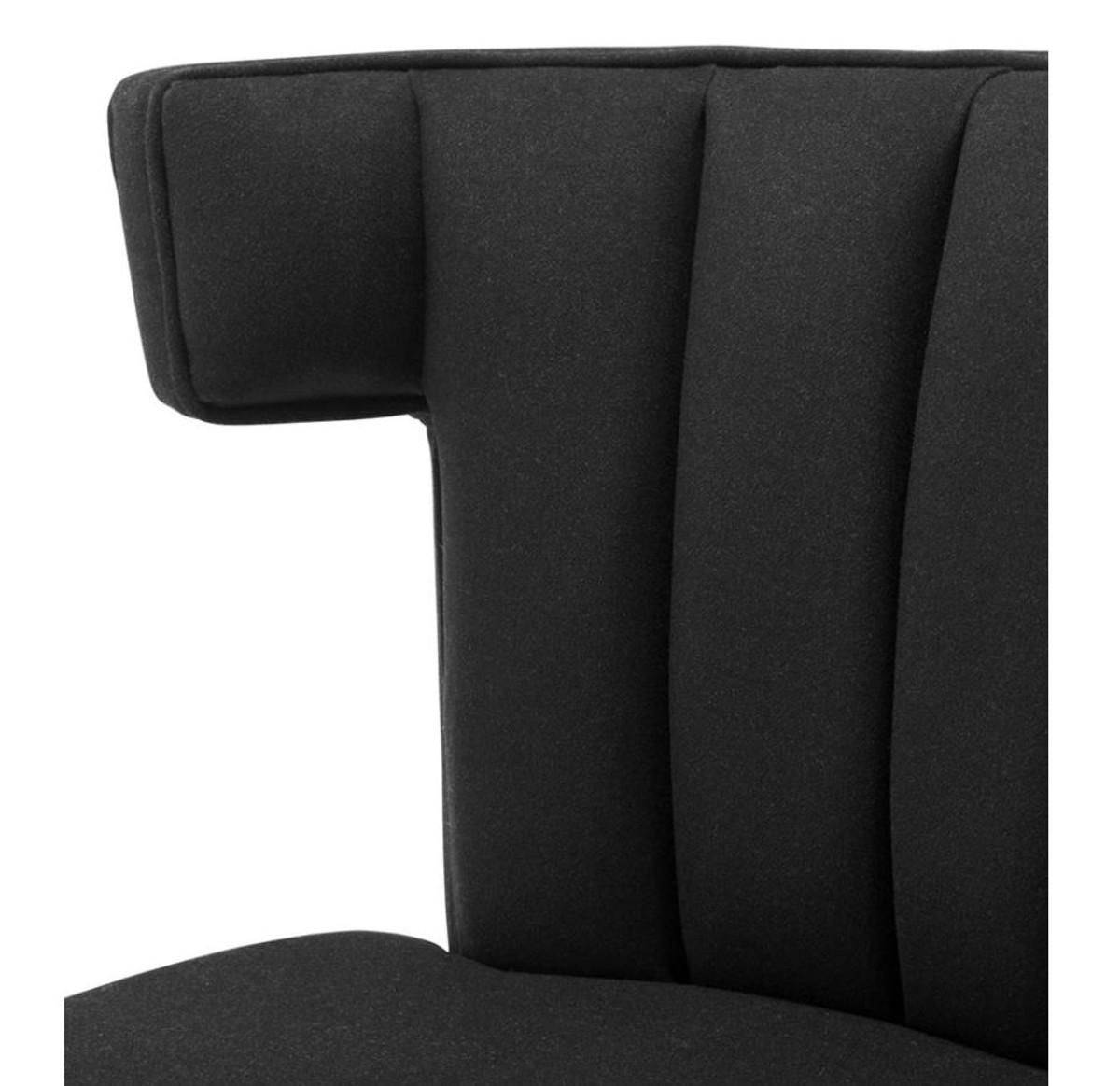 Casa Padrino Luxus Sessel Schwarz Designer Möbel Sessel