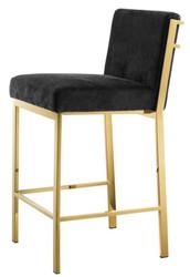 Casa Padrino Designer High Chair / Bar Chair / Bar Stool Gold 43 x 54 x H. 91 cm - Hotel Furniture
