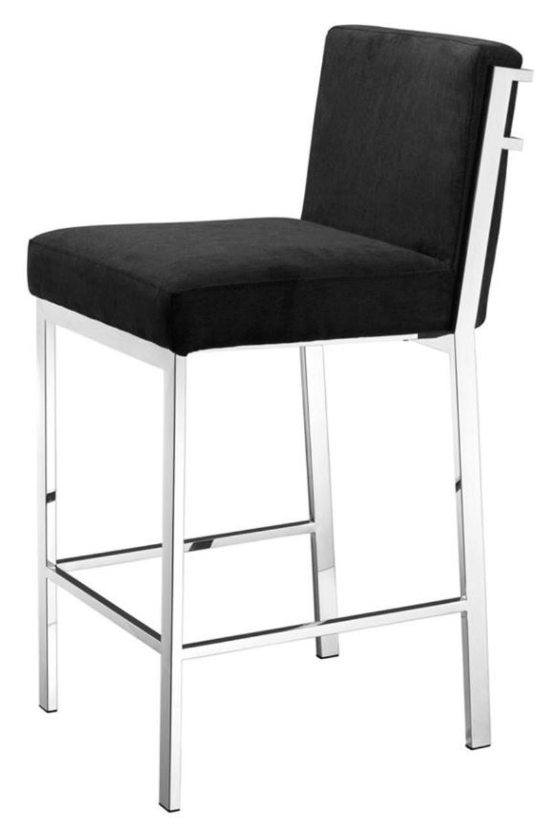 casa padrino designer hochstuhl barstuhl barhocker silber 43 x 54 x h 91 cm hotel m bel. Black Bedroom Furniture Sets. Home Design Ideas