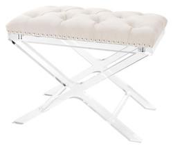 Casa Padrino luxury cross stool natural - designer hotel stool