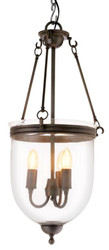 Casa Padrino designer hanging light / lantern gunmetal 32 x H. 70 cm - luxury hanging lamp