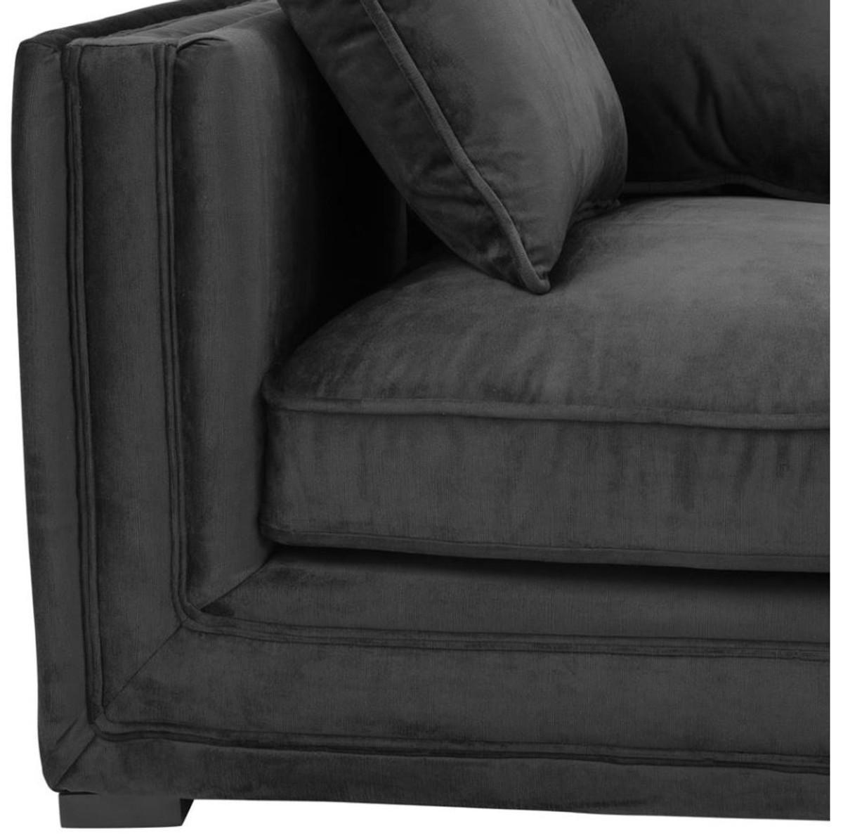 casa padrino luxus designer 3er sofa schwarz luxus hotel m bel sofas luxus hotel sofas. Black Bedroom Furniture Sets. Home Design Ideas