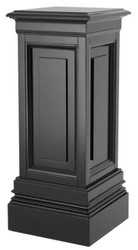 Casa Padrino designer mahogany column black 33 x 33 x H. 80 cm - luxury side table
