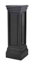 Casa Padrino designer mahogany column black 33 x 33 x H. 100 cm - luxury side table
