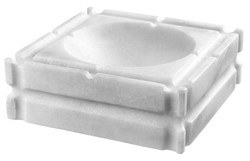 Casa Padrino designer marble ashtray white 21 x 21 x H. 7 cm - limited edition