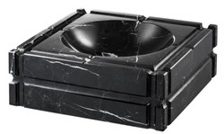 Casa Padrino designer marble ashtray black 21 x 21 x H. 7 cm - limited edition