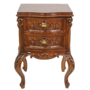 Casa Padrino Baroque Chest of drawers Mahogany H 70 cm, B 50 cm, T 40 cm - Side table Chest of drawers - Italian style furniture – Bild 1