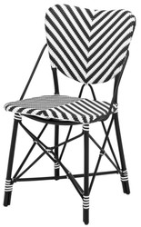 Casa Padrino designer garden chair black / white - luxury garden furniture
