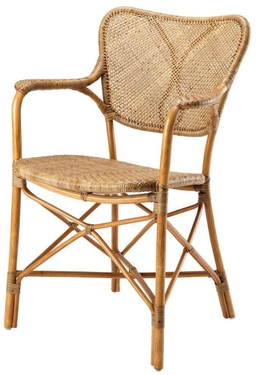 casa padrino designer gartenstuhl mit armlehnen hellbraun luxus gartenm bel st hle. Black Bedroom Furniture Sets. Home Design Ideas