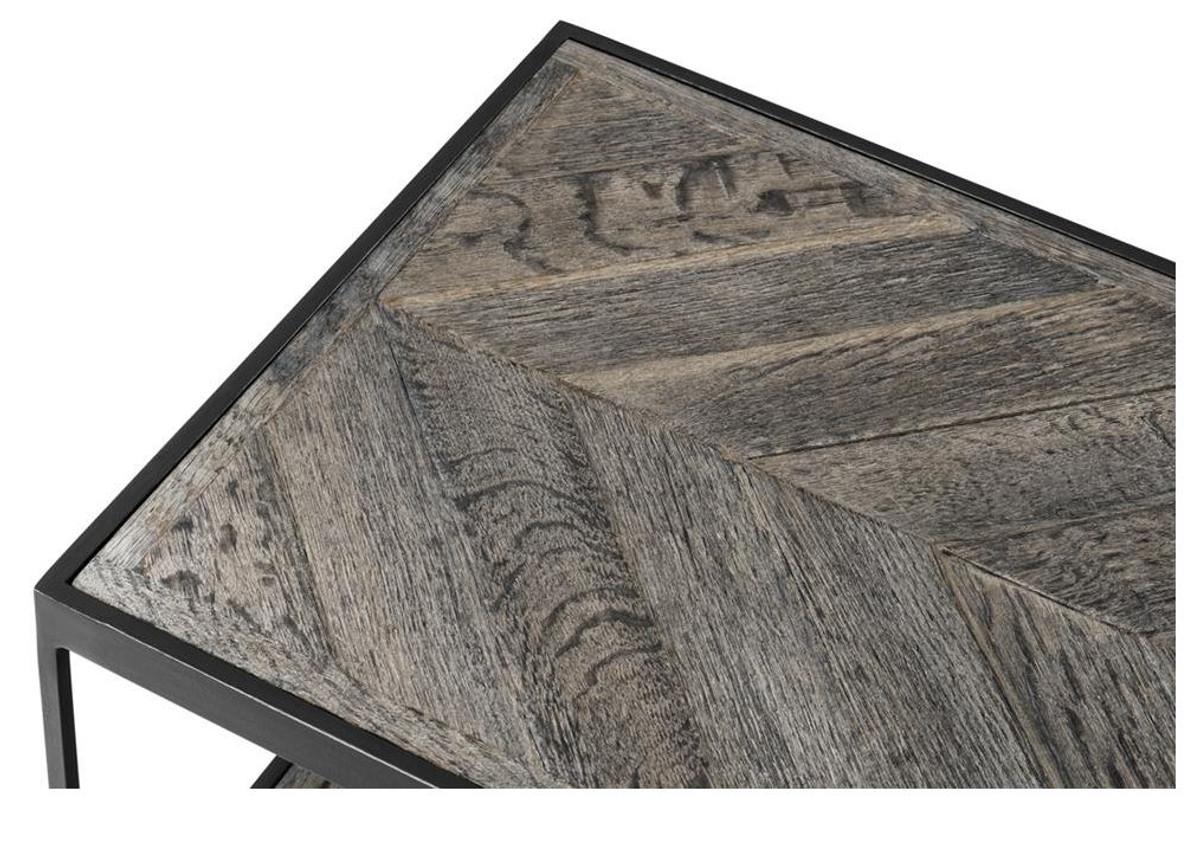 Casa Padrino Luxus Couchtisch Aus Verzinktem Stahl Und Verwittertem Eichenholz Designer Wohnzimmertisch