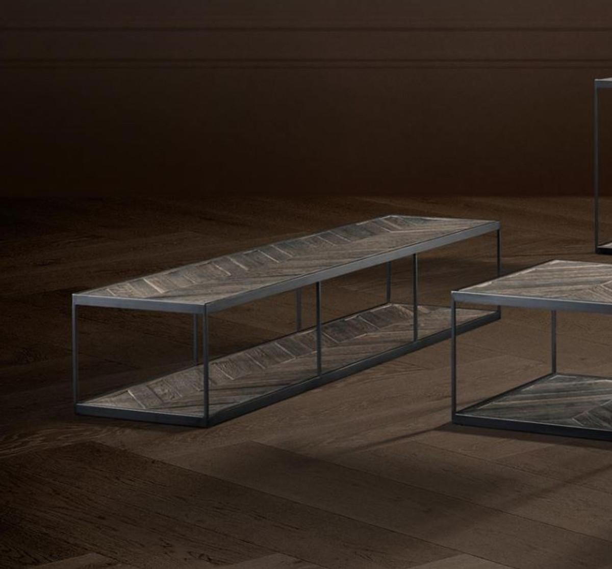 Casa padrino luxus couchtisch aus verzinktem stahl und for Designer couchtisch stahl