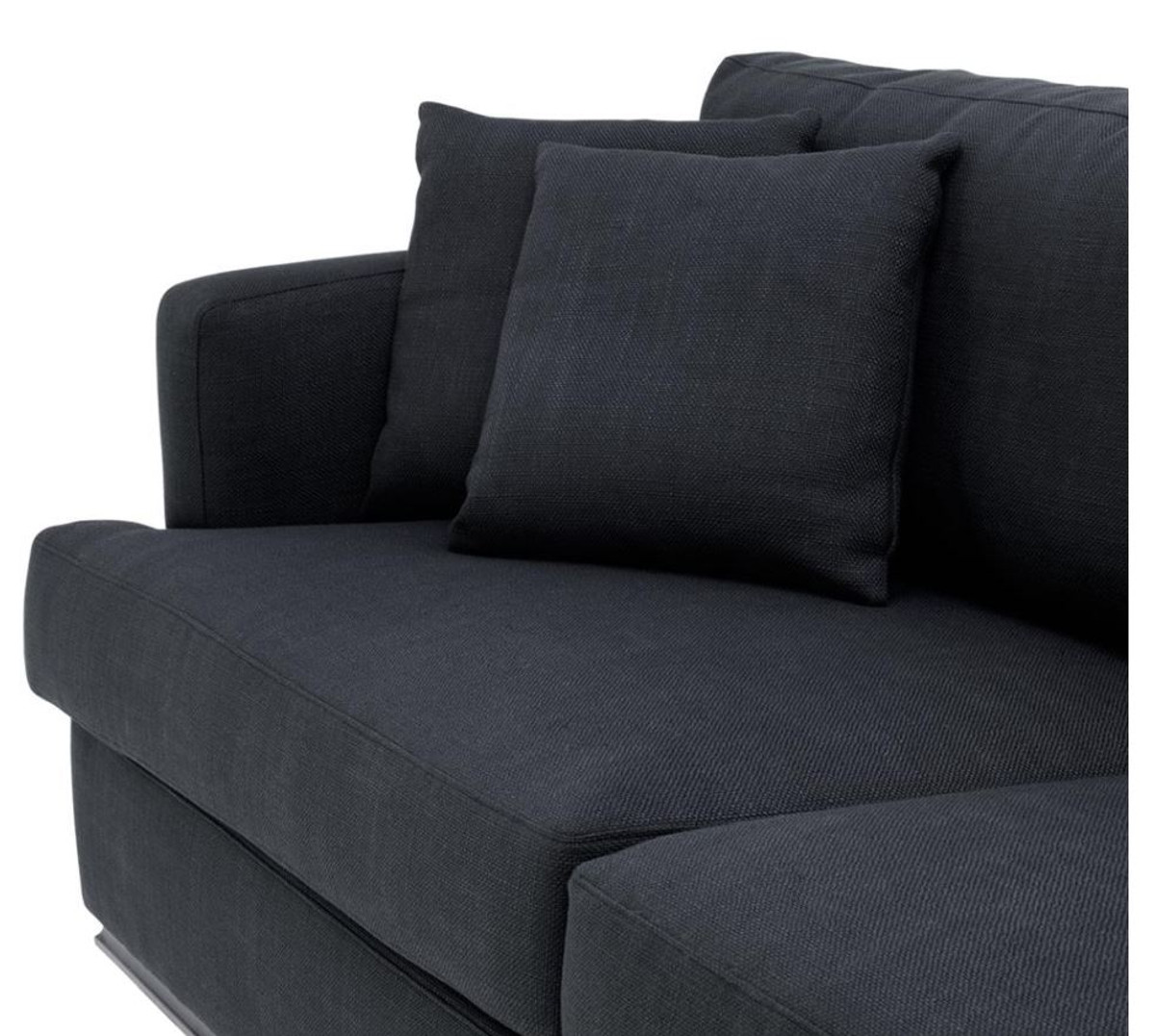 casa padrino luxus hotel sofa schwarz 234 x 103 x h 86 cm limited edition sofas luxus hotel sofas. Black Bedroom Furniture Sets. Home Design Ideas