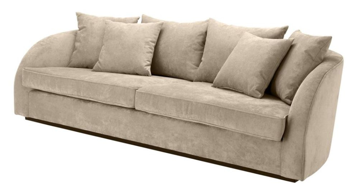 casa padrino luxus hotel sofa greige 255 x 91 x h 72 cm designer kollektion sofas luxus hotel. Black Bedroom Furniture Sets. Home Design Ideas