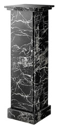Casa Padrino faux marble column black 39 x 39 x H. 122 cm - luxury side table