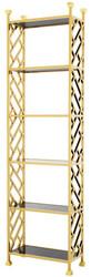 Casa Padrino designer shelf cabinet gold 65 x 32 x H. 230 cm - luxury quality