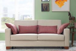 Casa Padrino Designer 3er Sofa Florence Creme - Hotel Möbel