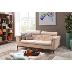 Casa Padrino Designer 3 seater Sofa Paris Creme - Hotel furniture