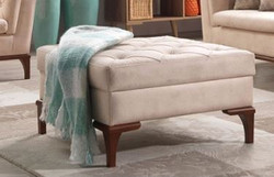 Casa Padrino Designer Club Stool Paris Creme - Hotel Furniture - Chesterfield Design