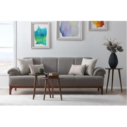 Casa Padrino Designer 3 seater sofa Frankfurt Light Grey - Hotel furniture