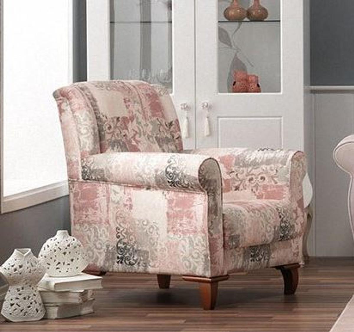 casa padrino designer bergere sessel stuttgart wei rose muster hotel m bel sofa sets. Black Bedroom Furniture Sets. Home Design Ideas