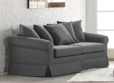 Casa Padrino Lounge Living room 3 seater sofa Marbella medium grey - Hotel furniture