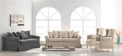 Casa Padrino Lounge Living room 3 seater sofa Marbella medium grey - Hotel furniture 2