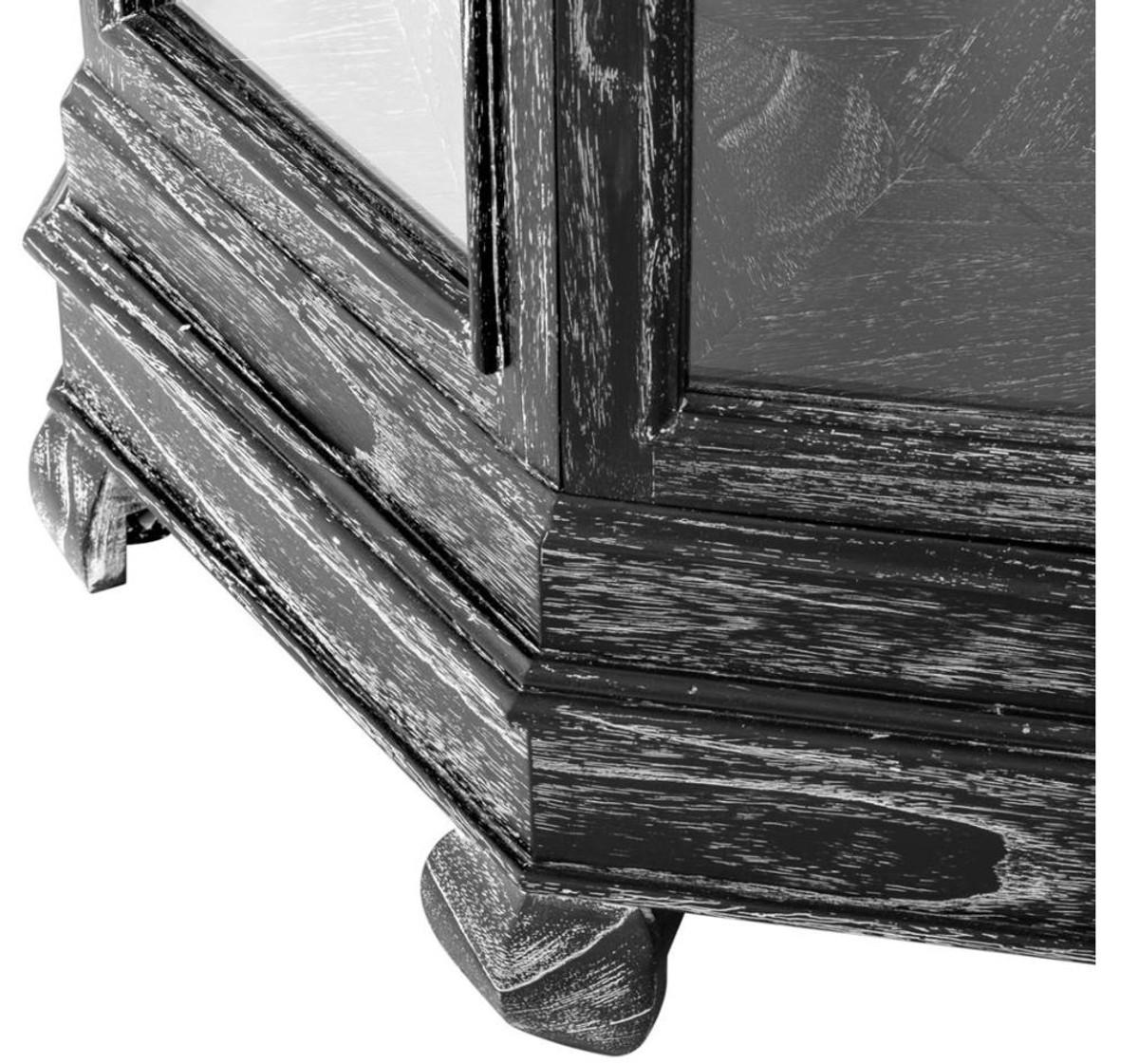 casa padrino designer vitrinenschrank schwarz 86 x 86 x h 207 cm luxus hotel boutique m bel. Black Bedroom Furniture Sets. Home Design Ideas